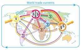 Courants de commerce mondial Image libre de droits