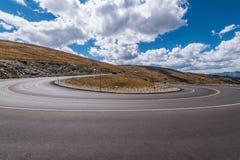 Courbe d'arc de médecine, traînée Ridge Road images libres de droits