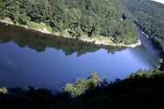 Courbe de fleuve Photo libre de droits