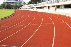 Courbe de piste de Runing Images stock