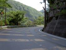 Courbe de route Photographie stock