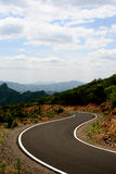 Courbe de route Image stock