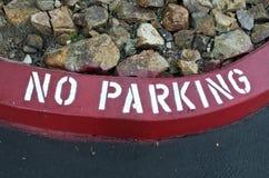 Courbe de stationnement interdit Image libre de droits