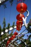 Courbe des lanternes Images stock