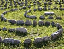 Courbe des roches Image libre de droits