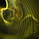 Courbe jaune Photo stock
