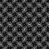 Courbe le vecteur sans couture monochrome illustration libre de droits