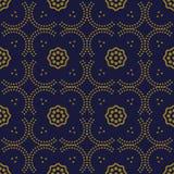 Courbe sans couture antique Dot Line Frame Flower de fond illustration de vecteur