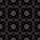 Courbe sans couture antique Dot Line Frame Flower de fond Images libres de droits