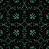 Courbe sans couture antique Dot Line Frame Flower de fond Photos libres de droits