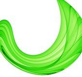 Courbe verte Photos libres de droits