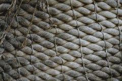 Courbe verticale de corde de traction de corde Image stock