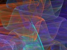 Courbes abstraites colorées de fractale avec les vagues transparentes Photos stock
