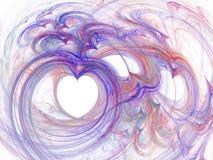 Courbes abstraites de fractale des lignes des pourpres de coeur Photographie stock