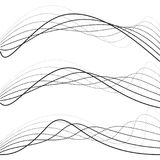 Courbes abstraites, graphiques de point illustration de vecteur