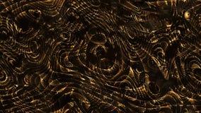 Courbes abstraites - lignes et formes incurvées paramétriques d'or 4k s illustration de vecteur