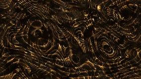 Courbes abstraites - lignes et formes incurvées paramétriques d'or 4k s illustration libre de droits