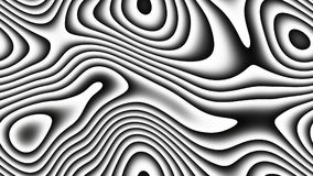 Courbes abstraites - lignes paramétriques et formes incurvées 4k sans couture illustration libre de droits