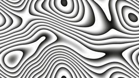 Courbes abstraites - lignes paramétriques et formes incurvées 4k sans couture illustration stock