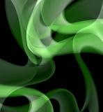 Courbes abstraites vertes sur le fond noir Photos stock