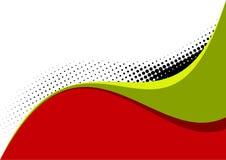 Courbes blanches vertes rouges   Images libres de droits