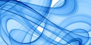 Courbes bleues illustration libre de droits