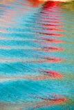 Courbes bleues de mer Photo libre de droits