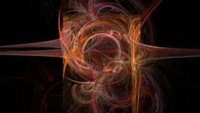 Courbes colorées et fond 3d abstrait de vagues Image libre de droits