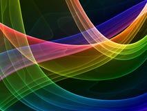 Courbes colorées mystiques illustration de vecteur
