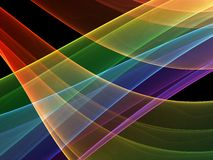 Courbes colorées mystiques illustration stock