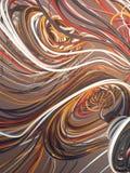 Courbes colorées par résumé de entrelacement rendu 3d Photo libre de droits