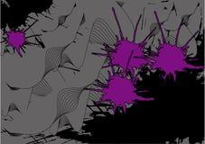 Courbes d'onde de fond et taches de rose illustration de vecteur