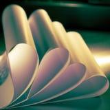 Courbes de papier Images libres de droits