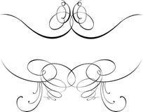 Courbes du baroque de calligraphie. Photos stock