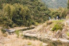 Courbes et ruisseau de route Images libres de droits