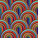 Courbes folles - modèle géométrique embrouillé avec des couleurs au néon lumineuses illustration de vecteur