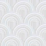 Courbes folles - modèle géométrique embrouillé avec des couleurs blanches en pastel pâles illustration de vecteur