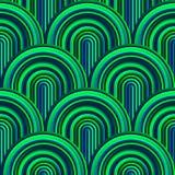 Courbes folles - modèle géométrique embrouillé avec des couleurs vert clair illustration stock