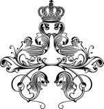 Courbes royales d'une tête de couleur rétro Photographie stock libre de droits