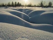 Courbes sensuelles 2 de neige Photo libre de droits