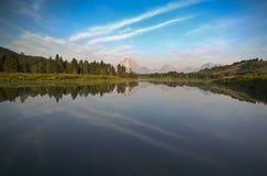 Courbure d'Oxbow chez Teton grand Photo libre de droits