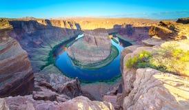 Courbure de chaussure de cheval, le fleuve Colorado en page, Arizona Etats-Unis photo libre de droits