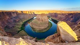 Courbure de chaussure de cheval, le fleuve Colorado en page, Arizona Etats-Unis Images stock