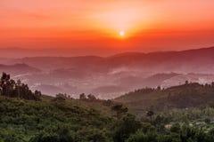 Courbure de chaussure de cheval au coucher du soleil Photos libres de droits