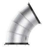 Courbure de conduit d'air 60 degrés d'isolement sur le fond blanc 3d les déchirent Photos stock