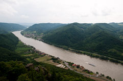 Courbure de Danube Image libre de droits
