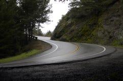 Courbure de la montagne S après pluie Images libres de droits