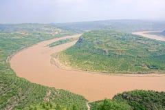 Courbure de la rivière Yellow Qiankun image libre de droits