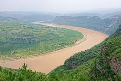 Courbure de la rivière Yellow Qiankun photos libres de droits