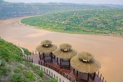 Courbure de la rivière Yellow Qiankun photographie stock